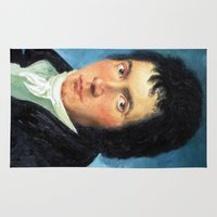 beethoven Area & Throw Rugs featuring Beethoven by SuchDesign