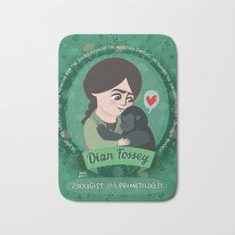 Women in science | Dian Fossey Bath Mat