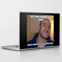 greg guillemin Laptop & iPad Skins featuring Good Guy Greg by Org Mag