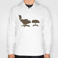 eames Hoodies featuring Eames Lounge Chair and Ottoman by Green Bird Press