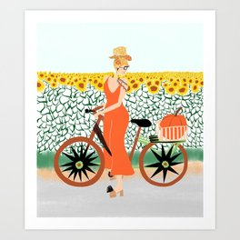Pumpkin ride Art Print