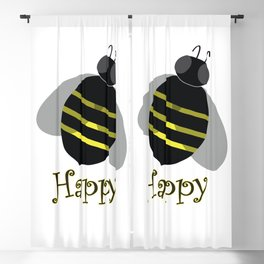 Bee Happy Blackout Curtain