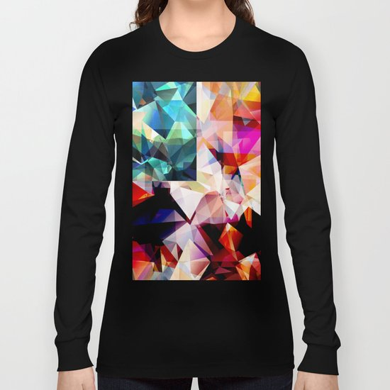 Colorful Geometric Abstract Long Sleeve T-shirt