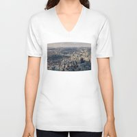 toronto V-neck T-shirts featuring Toronto by Nick De Clercq