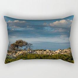 Wood, stone and clouds Rectangular Pillow