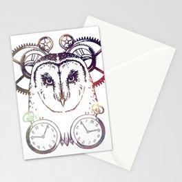 Clockwork Owl - Galaxy Stationery Cards