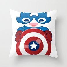 CAPTAIN AMERICA ROBOTIC Throw Pillow