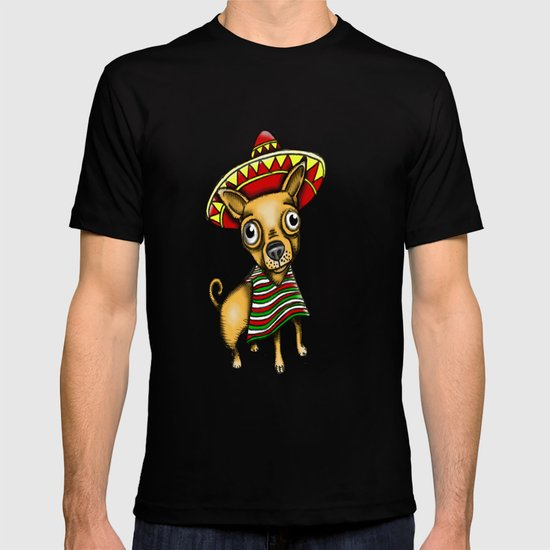 Mexican Chihuahua in Brown T-shirt