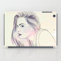 cara iPad Cases featuring Cara by Guadalupe Jiménez