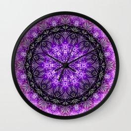 Violet Firework Mandala Wall Clock