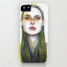 yellow lemongrass Slim Case iPhone (5, 5s)