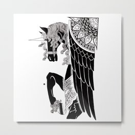 one winged unicorn Metal Print