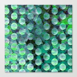 Circles on Triangles Turquois Green Canvas Print