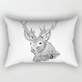 Forest Stag Rectangular Pillow