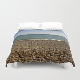 Evening Tide on a cobbled beach Duvet Cover