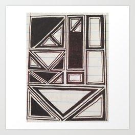 Squares Squared  Art Print