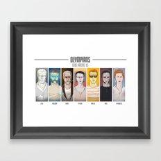 olympians Framed Art Print