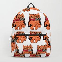 Vintage Ginger kitty cats hugging Backpack