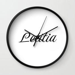Name Letitia Wall Clock