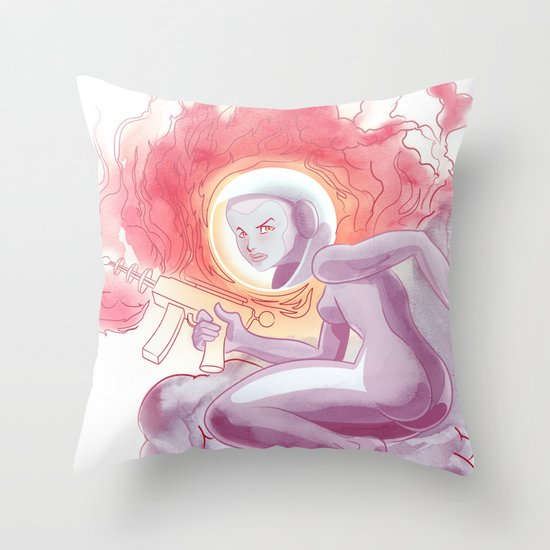Somewhere in Space Throw Pillow