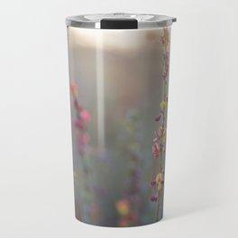 Wildflowers at Sunse Travel Mug