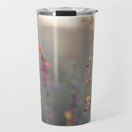 Wildflowers at Sunse Travel Mug