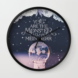 Wintersong - You are the monster I claim Wall Clock
