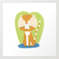 Tommy The Cat Art Print