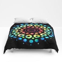 Multi-Color Mandala Tie-Dye Circle Shapes Comforters