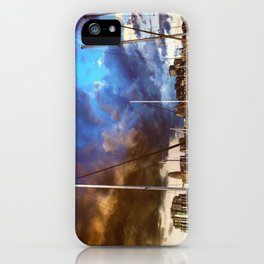 Storm Over the Erie Basin Marina iPhone Case