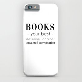 Book Lover Gift, introvert gift, bibliophile, gift for reader, bookworm iPhone Case