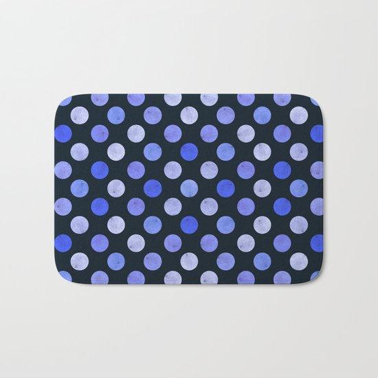 Watercolor Dots Pattern X Bath Mat