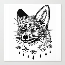 what the fox sees Canvas Print