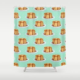 Pancakes & Dots Pattern Shower Curtain