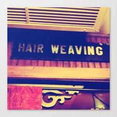 Hair Weaving  Canvas Print
