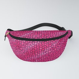 Raspberry Pink Crush Mosaic Fanny Pack