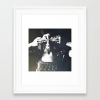 letters Framed Art Prints featuring Letters by Deniz Kantürk