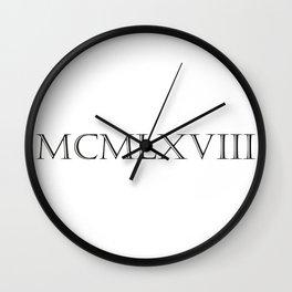Roman Numerals - 1968 Wall Clock