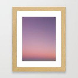 LA sunset sky gradient 243 Framed Art Print