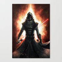 dark side Canvas Prints featuring Dark side by Michele Frigo