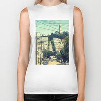 san francisco Biker Tanks featuring San Francisco by Mr and Mrs Quirynen