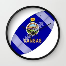 Kansas State USA Football Flag Wall Clock
