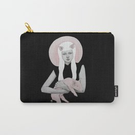 Peonia in Black Carry-All Pouch