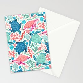 Paradise Beach Turtles Stationery Cards