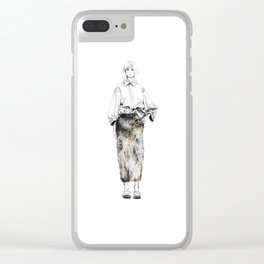 Faux Fur Skirt Clear iPhone Case