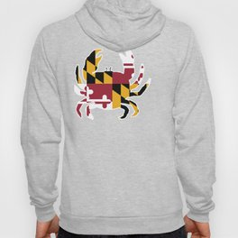 Maryland State Flag with Crab Design Hoody