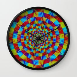 ZOOM #1 Vibrant Psychedelic Optical Illusion Wall Clock
