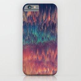 Glitch art Sky #glitch #abstraction iPhone Case