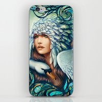 swan iPhone & iPod Skins featuring Swan by Bea González