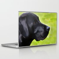 labrador Laptop & iPad Skins featuring Black  Labrador by Doug McRae